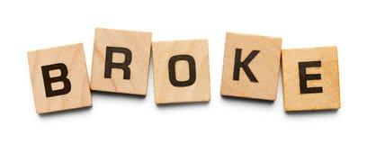 Έσπασε τα ξύλινα κεραμίδια Στοκ εικόνες με δικαίωμα ελεύθερης χρήσης