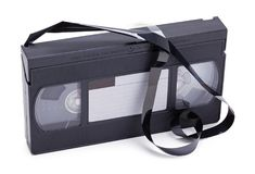 Έσπασε την ταινία VHS Στοκ Εικόνες
