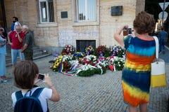 50 έτη μετά το 1968 εισβολής στην Τσεχοσλοβακία στοκ φωτογραφία με δικαίωμα ελεύθερης χρήσης