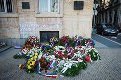 50 έτη μετά το 1968 εισβολής στην Τσεχοσλοβακία στοκ φωτογραφία