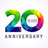 20 έτη που χρωματίζονται διανυσματική απεικόνιση