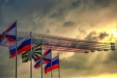 100 έτη της ρωσικής Πολεμικής Αεροπορίας Στοκ Εικόνα