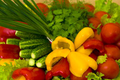 έτοιμα ακατέργαστα λαχανικά Στοκ Φωτογραφία