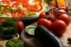 έτοιμα λαχανικά σαλάτας στοκ εικόνες