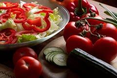 έτοιμα λαχανικά σαλάτας στοκ φωτογραφίες με δικαίωμα ελεύθερης χρήσης