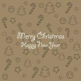 έτοιμη σύσταση μηνυμάτων Χριστουγέννων σας ελεύθερη απεικόνιση δικαιώματος