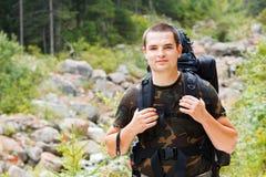Έτοιμος για τα βουνά πεζοπορίας Στοκ φωτογραφίες με δικαίωμα ελεύθερης χρήσης