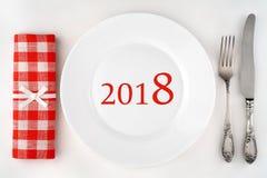 2018 - έτοιμος για την κατανάλωση Bon Appetit! Στοκ εικόνα με δικαίωμα ελεύθερης χρήσης