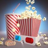 Έτοιμος για τον κινηματογράφο ελεύθερη απεικόνιση δικαιώματος