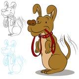 έτοιμος περίπατος σκυλιών διανυσματική απεικόνιση