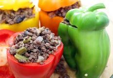 έτοιμος πιπεριών φούρνων που γεμίζεται Στοκ Εικόνα