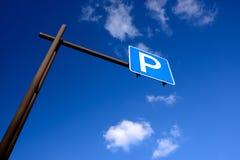έτοιμο σημάδι φωτογραφίας χώρων στάθμευσης στη χρήση Στοκ Φωτογραφίες