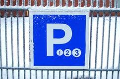 έτοιμο σημάδι φωτογραφίας χώρων στάθμευσης στη χρήση Στοκ Φωτογραφία