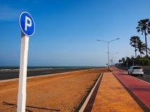 έτοιμο σημάδι φωτογραφίας χώρων στάθμευσης στη χρήση Στοκ Εικόνα
