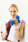 έτοιμο workout Στοκ εικόνα με δικαίωμα ελεύθερης χρήσης