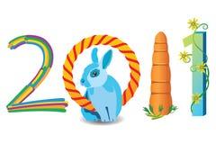 έτος έννοιας του 2011 Στοκ Φωτογραφίες