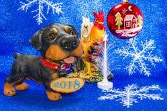 Έτος έτους 2018 του σκυλιού Στοκ εικόνα με δικαίωμα ελεύθερης χρήσης