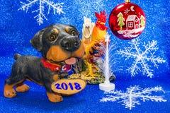 Έτος έτους 2018 του σκυλιού Στοκ Εικόνες
