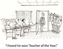 έτος δασκάλων Στοκ φωτογραφία με δικαίωμα ελεύθερης χρήσης