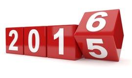 Έτος 2015 αλλαγές έως 2016 Στοκ φωτογραφίες με δικαίωμα ελεύθερης χρήσης