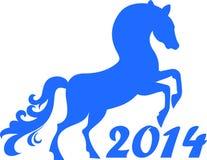 Έτος 2014 αλόγων. ελεύθερη απεικόνιση δικαιώματος