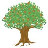 έτος δέντρων μηλιάς διανυσματική απεικόνιση