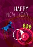 Έτος ενός μπλε αλόγου 2014 Στοκ Εικόνες