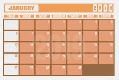 Έτος και αρμόδιος για το σχεδιασμό ημερολογιακού 2019 Ιανουαρίου για τον προγραμματισμό των στόχων και του τ διανυσματική απεικόνιση