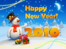 έτος καρτών του 2010 νέο Στοκ Εικόνες