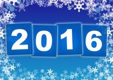 Έτος καρτών 2016 Στοκ Εικόνες