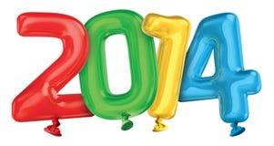 Έτος 2014 μπαλόνια Στοκ Φωτογραφίες