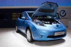 έτος της Nissan φύλλων αυτοκι&nu Στοκ Εικόνα