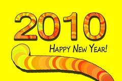 έτος τιγρών του 2010 ευτυχές  Στοκ Φωτογραφία