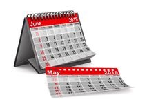 έτος του 2019 Ημερολόγιο για τον Ιούνιο Απομονωμένη τρισδιάστατη απεικόνιση Στοκ φωτογραφίες με δικαίωμα ελεύθερης χρήσης