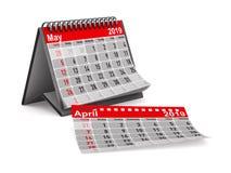 έτος του 2019 Ημερολόγιο για το Μάιο Απομονωμένη τρισδιάστατη απεικόνιση Στοκ Εικόνες