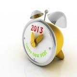 έτος του 2013 στο ρολόι συναγερμών Στοκ Εικόνες