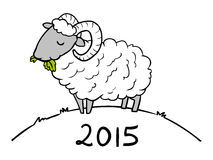 Έτος των προβάτων Doodle για το 2015 Στοκ Εικόνα