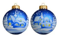 έτος Χριστουγέννων 2007 σφαιρών Νέα παιχνίδια έτους ` s οικολογικός ξύλινος διακοσμήσεων Χριστουγέννων Στοκ Εικόνα