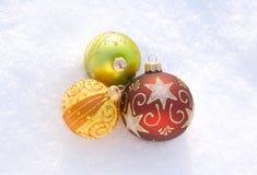 έτος Χριστουγέννων 2007 σφαιρών Στοκ Εικόνες