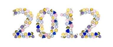 έτος 2012 πολύτιμων λίθων ευτ Στοκ Εικόνα