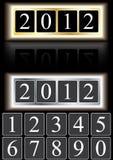 έτος 2012 eps αριθμών Στοκ Εικόνες