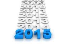 Έτος 2015 ελεύθερη απεικόνιση δικαιώματος