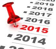 Έτος 2015 στοκ φωτογραφία