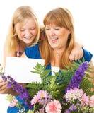 Ημέρα μητέρων μητέρων και κορών στοκ εικόνα με δικαίωμα ελεύθερης χρήσης
