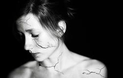 Σπασμένο κορίτσι Στοκ φωτογραφία με δικαίωμα ελεύθερης χρήσης