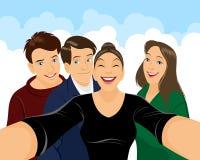 Έφηβοι που κάνουν selfie Στοκ φωτογραφία με δικαίωμα ελεύθερης χρήσης