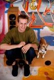 έφηβος γκράφιτι σκυλιών α&s Στοκ εικόνα με δικαίωμα ελεύθερης χρήσης