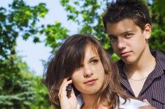 έφηβος ζευγών Στοκ Φωτογραφία