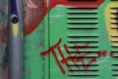 Έφηβος και γκράφιτι Στοκ Εικόνα