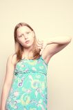 έφηβος κοριτσιών δυστυχ&i Στοκ Φωτογραφίες